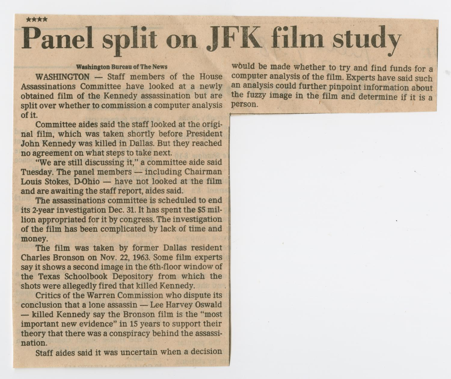 an analysis of the investigation and presented facts in the assassination of jfk