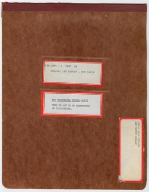 Primary view of object titled '[Covers to Bound Notebook]'.