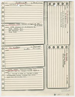 Primary view of object titled '[Addresses and Notes by Jack Ruby]'.