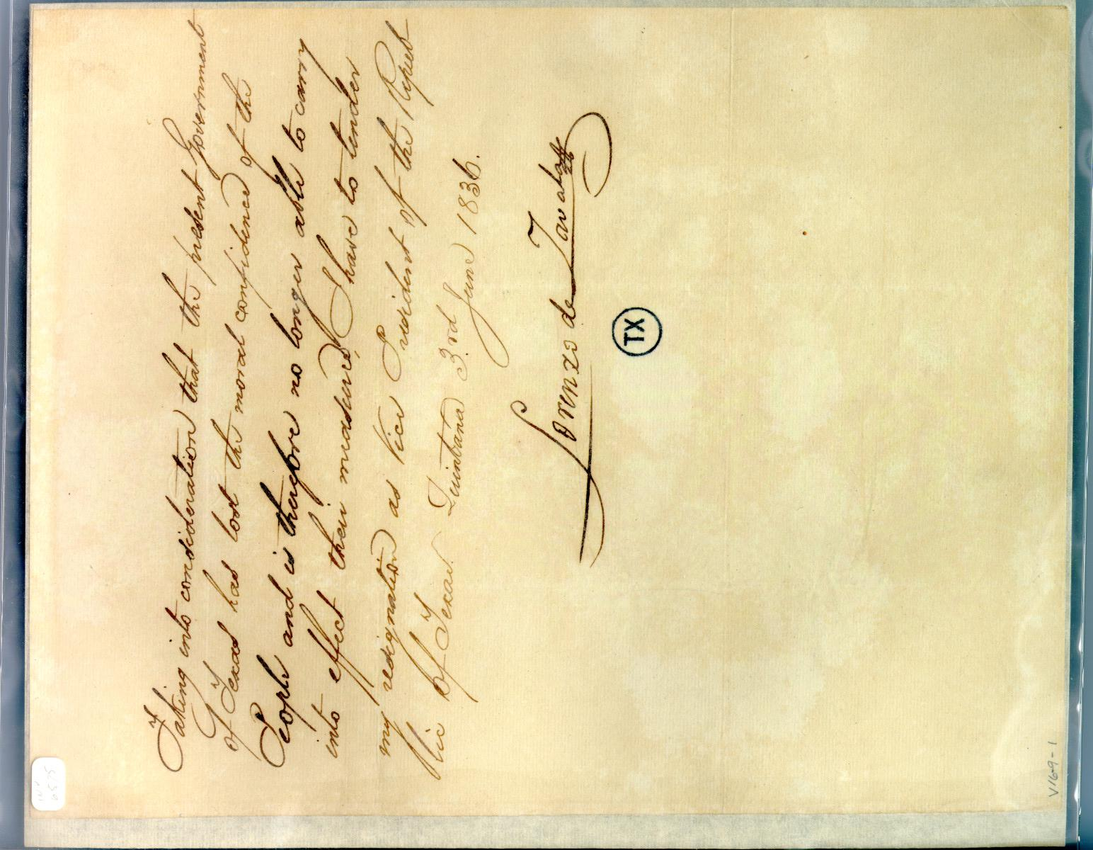 [Letter from Zavala to Prest/Cabinet] June 3rd 1836                                                                                                      [Sequence #]: 1 of 1