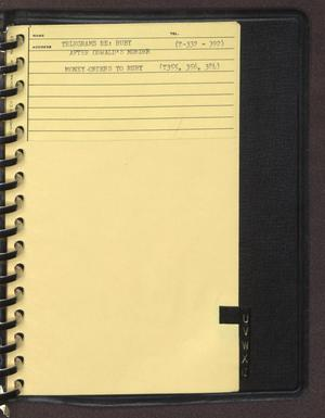 "Primary view of object titled '[Index page filed under ""T"" from an inventory notebook #5]'."