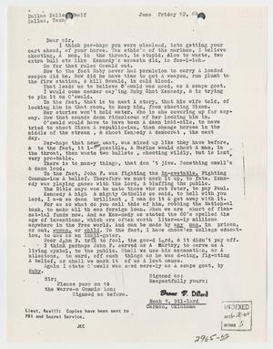 Primary view of object titled '[Letter to Chief of Police from Noah V. Dillard, June 12, 1964 #2]'.