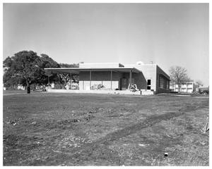 Primary view of object titled 'Maple Wood School under construction'.