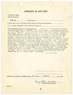 Primary view of object titled '[Affidavit In Any Fact by M. L. Baker]'.