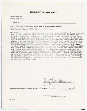 Primary view of object titled '[Affidavit In Any Fact by Ira F. Van Cleave #1]'.