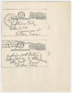 Primary view of object titled '[Envelopes by Josephine Briggs #2]'.