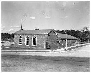 Primary view of object titled 'Exterior of Tarrytown Methodist Church'.