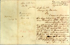 [Letter from Burnet to Zavala] April 22nd 1836