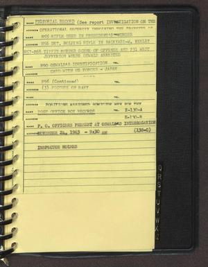 "Primary view of object titled '[Index page filed under ""P"" from an inventory notebook #2]'."