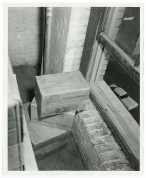 Primary view of object titled '[Boxes Next to a Window]'.