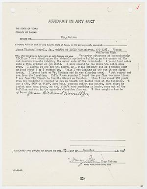 Primary view of object titled '[Affidavit In Any Fact by James Richard Worrell, Jr. #2]'.