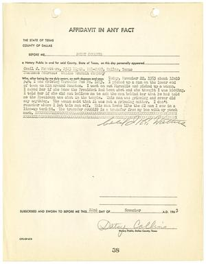 Primary view of object titled '[Affidavit by Cecil J. McWatters #2]'.