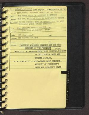 "Primary view of object titled '[Index page filed under ""P"" from an inventory notebook #6]'."