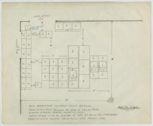 Primary view of object titled '[Map of Texas School Book Depository #2]'.