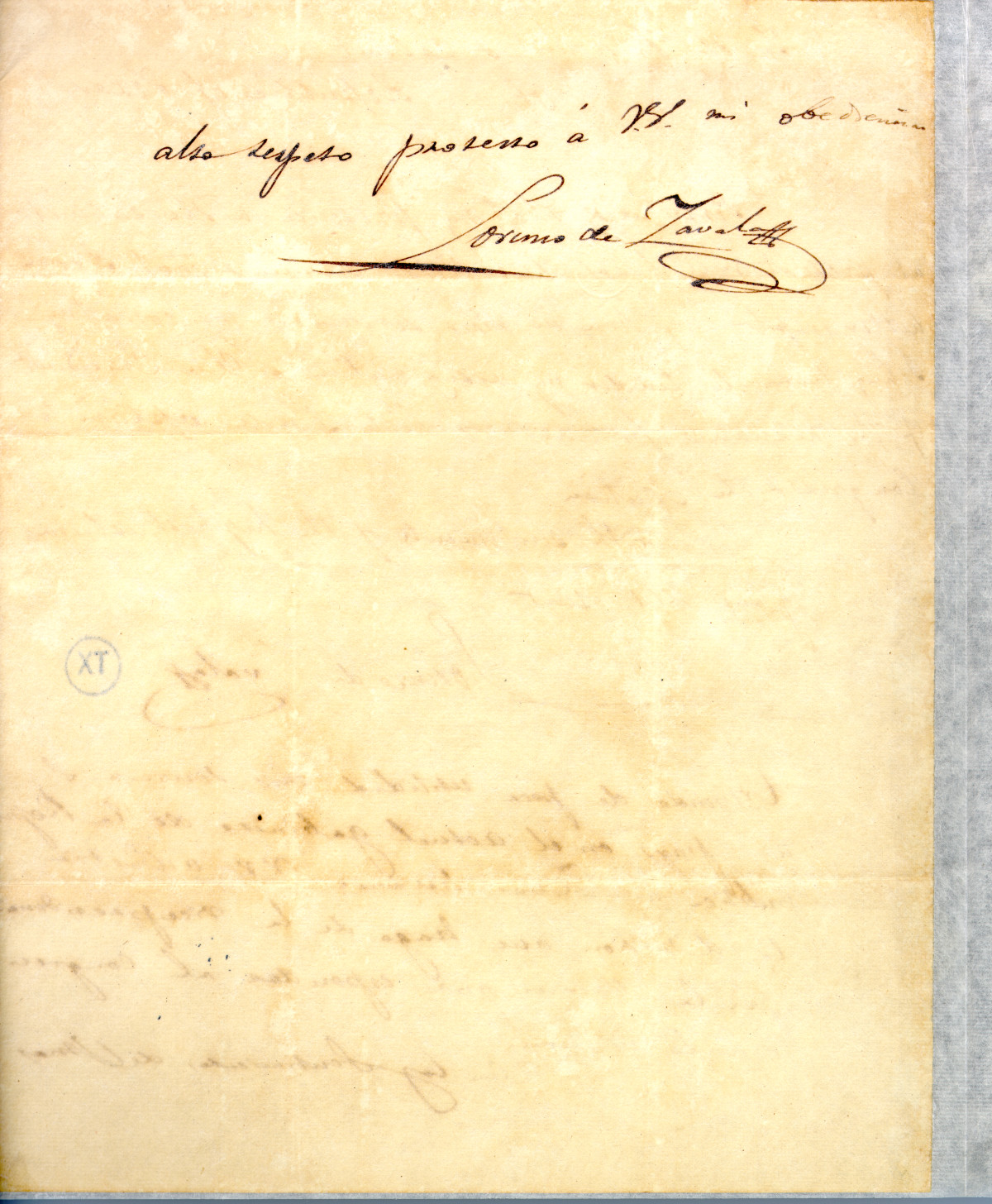 [Letter from Zavala to Prest/Cabinet] April 20th 1836                                                                                                      [Sequence #]: 2 of 2