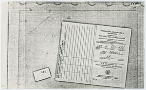 Primary view of object titled '[Documents Found at Oswald's Residence]'.