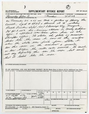 Primary view of object titled '[Supplementary Offense Report by W. E. Potts]'.