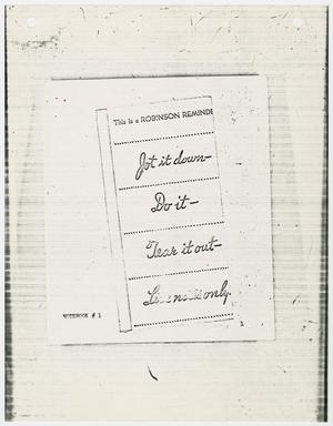 Primary view of object titled '[Address Book of Jack Ruby]'.
