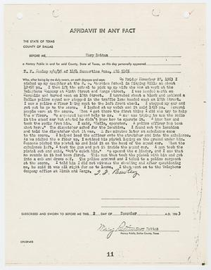 [Affidavit by T. F. Bowley #2]
