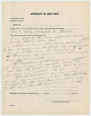 [Affidavit In Any Fact by Roy S. Truly #1]