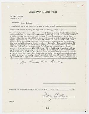 Primary view of object titled '[Affidavit In Any Fact by Linnie Mae Randle #2]'.