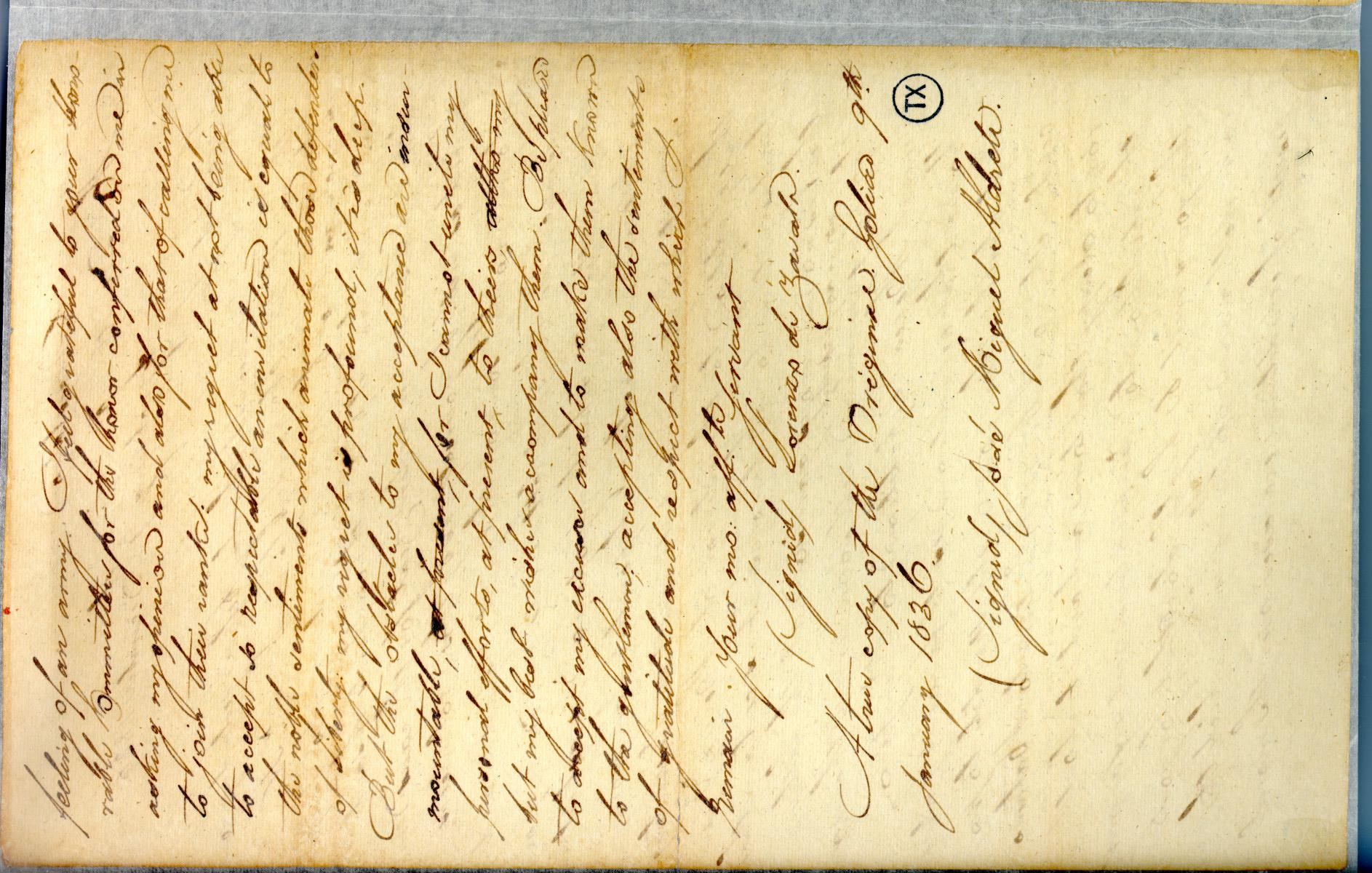 [Letter from Zavala to Dimitt] December 9th 1835                                                                                                      [Sequence #]: 2 of 2