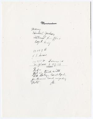 Primary view of object titled '[Handwritten note by an unknown author]'.