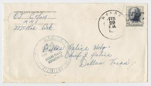Primary view of object titled '[Envelope by O. T. Coley]'.