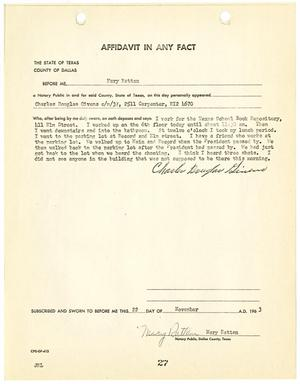 Primary view of object titled '[Affidavit by Charles Douglas Givens #2]'.