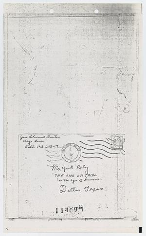 Primary view of [Letters Sent to Jack Ruby by Citizens]