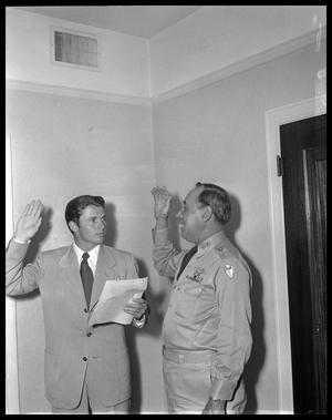 Primary view of object titled 'Audie Murphy & Gen. Ainsworth'.