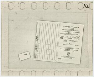 Primary view of object titled '[International Certificates of Vaccination]'.