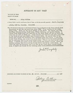 Primary view of object titled '[Affidavit by Jack E. Dougherty #3]'.