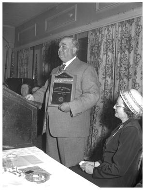 Primary view of object titled 'Mayor Tom Miller - citizen of the year presentation'.