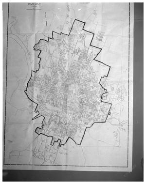 Primary view of object titled 'Austin map'.