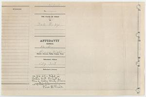 Primary view of object titled '[Affidavit General by J. W. Fritz, November 24, 1963]'.