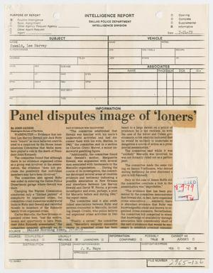 [Intelligence Report: Dallas Morning News Clipping, July 24, 1979