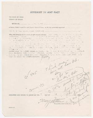 Primary view of object titled '[Affidavit In Any Fact by J. C. Day #2]'.