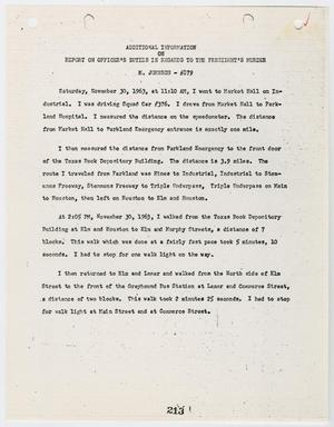Primary view of object titled '[Additional Report on Officer's Duties by Marvin Johnson #2]'.
