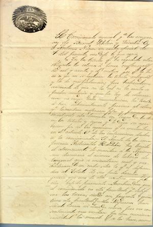Primary view of object titled '[Letter from J. Mariano Irala to Politial Chief of Nacogdoches] April 29th, 1835'.