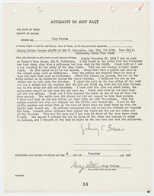 Primary view of object titled '[Affidavit by Johnny Calvin Brewer #3]'.