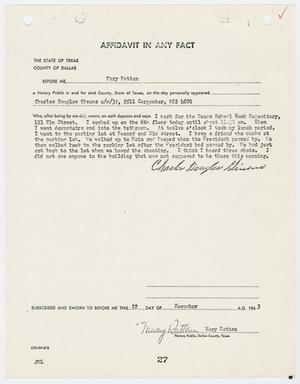 Primary view of object titled '[Affidavit by Charles Douglas Givens #3]'.