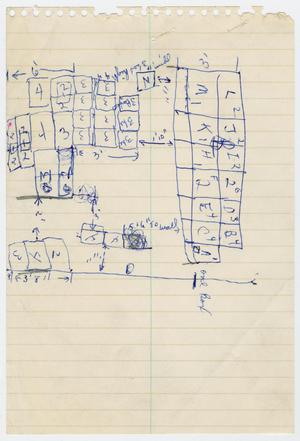 Primary view of object titled '[Map of Texas School Book Depository #1]'.