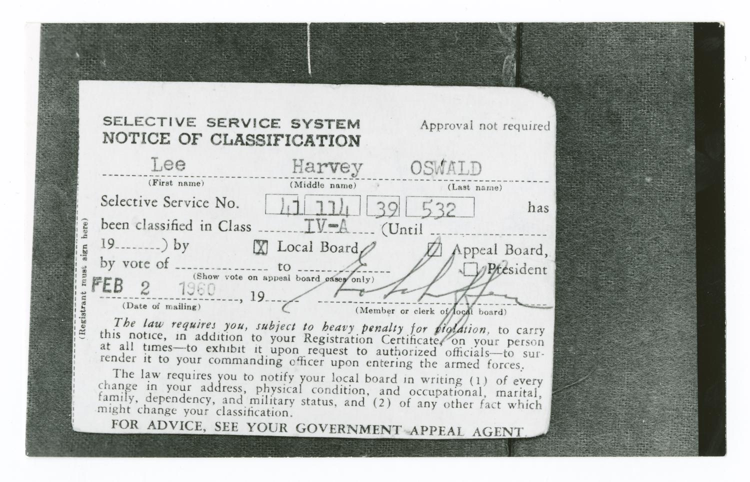 Back Of Selective Service Card The Portal To Texas History