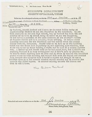 Primary view of object titled '[Voluntary Statement by Barbara Walker Rowland #2]'.
