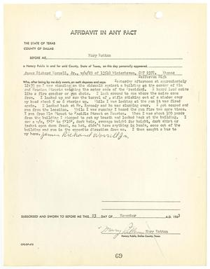 Primary view of object titled '[Affidavit In Any Fact by James Richard Worrell, Jr. #1]'.