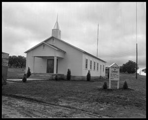 Primary view of object titled 'Exterior view Church of Christ'.