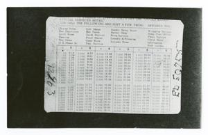 Primary view of object titled '[Back of Tokyo Hotel Card]'.