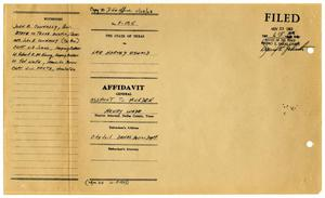 Primary view of object titled '[Affidavit General by Robert E. McKinney #1]'.