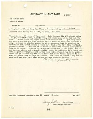Primary view of object titled '[Affidavit In Any Fact by Barbara Jeanette Davis]'.